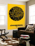 Johannesburg Street Map Yellow