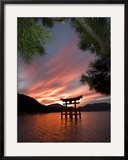 Torii Shrine Gate in the Sea  Miyajima Island  Honshu  Japan