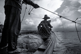 Andaman Sea: Fishermen Haul in their Net in the Andaman Sea
