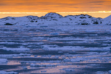 Sunset over Lemaire Channel on the Antarctic Peninsula