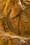 Aboriginal Rock Art Near Jar Island in the Kimberley Region of Western Australia