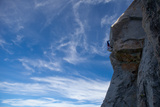 Idylwild  Tahquitz Rock  California  USA: A Man Climbs the Airy 'Traitor Horn' on Tahquitz Rock