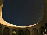 Night Sky over a Historic Caravansary Reminiscent of One Thousand and One Arabian Nights