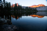 Alpenglow at Sunset on Cathedral Peak in Tuolumne Meadows