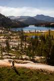 A Hiker in Tuolumne Meadows at Cathedral Lake