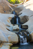 Sierra Nevada Mountains  California: A Hiker Explore the Waterfalls of the Seven Teacups