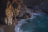 Julia Pfeiffer Burns State Park  Big Sur  California: Mcway Waterfall Just after Sunset