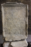 Close Up of an Ancient Inscription at the Colosseum