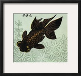 Japanese Matchbox Label with a Swimming Carp