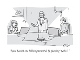 """I just hacked one billion passwords by '12345'"" - Cartoon"