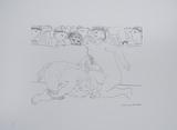 Minotauro Vencido Reproduction d'art par Pablo Picasso