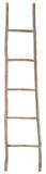 Wood White Washed Ladder - Lg