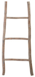 Wood White Washed Ladder - Sm