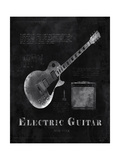 Black Print Electric Guitar