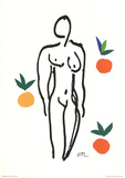 Nude With Fruits