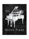 Black Print Grand Piano