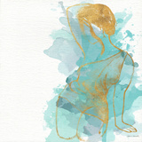 Seated Watercolor Woman II