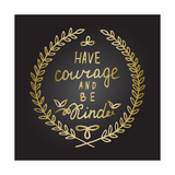 Inspiration Quote in Gold Laurel Leaves Frame