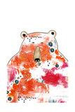 Bear with Orange Flowers