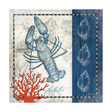 Coastal Blue Lobster Reproduction d'art par Jennifer Pugh