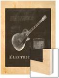 Black Print Electric Guitar
