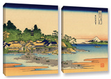 Enoshima In The Sagami Province  2 Piece Gallery-Wrapped Canvas Set