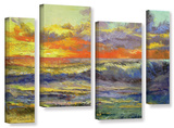 Califonia Dreaming  4 Piece Gallery-Wrapped Canvas Staggered Set