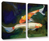 Feng Shui Koi Fish  2 Piece Gallery-Wrapped Canvas Set