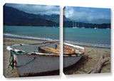 Waiting To Row In Hanalei Bay  2 Piece Gallery-Wrapped Canvas Set