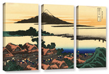 Dawn At Isawa In The Kai Province   3 Piece Gallery-Wrapped Canvas Set
