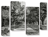 Live Oak Avenue Ii  4 Piece Gallery-Wrapped Canvas Staggered Set