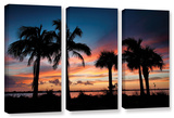 Tropical Sunset Ii  3 Piece Gallery-Wrapped Canvas Set