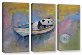 Panda Moon  3 Piece Gallery-Wrapped Canvas Set