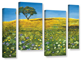 Golden Meadow  4 Piece Gallery-Wrapped Canvas Staggered Set