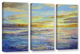 Florida Sunrise  3 Piece Gallery-Wrapped Canvas Set