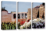 Bells Of Mission San Juan Capistrano  3 Piece Gallery-Wrapped Canvas Set