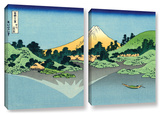 The Fuji Reflects In Lake Kawaguchi  Seen From The Misaka Pass In The Kai Province  2 Piece Gallery