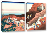 Climbing On Mt Fuji  2 Piece Gallery-Wrapped Canvas Set