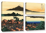 Dawn At Isawa In The Kai Province   3 Piece Gallery-Wrapped Canvas Flag Set