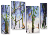 Mystic Pond  4 Piece Gallery-Wrapped Canvas Staggered Set