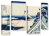 Asakusa Honganji Temple In Th Eastern Capital  4 Piece Gallery-Wrapped Canvas Staggered Set