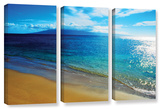 Blue Hawaii  3 Piece Gallery-Wrapped Canvas Set