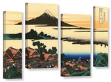 Dawn At Isawa In The Kai Province   4 Piece Gallery-Wrapped Canvas Staggered Set
