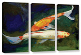 Feng Shui Koi Fish  3 Piece Gallery-Wrapped Canvas Set