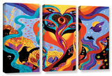 Karmic Lovers  3 Piece Gallery-Wrapped Canvas Set