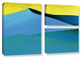 Evening At The Dunes  3 Piece Gallery-Wrapped Canvas Flag Set