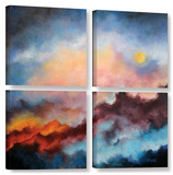 Fire On The Mountain  4 Piece Gallery-Wrapped Canvas Square Set