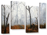 Autumn Mist  4 Piece Gallery-Wrapped Canvas Staggered Set