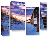 Sunset At Ocracoke  4 Piece Gallery-Wrapped Canvas Staggered Set