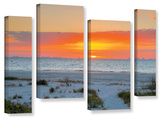 Sanibel Sunrise Iv  4 Piece Gallery-Wrapped Canvas Staggered Set